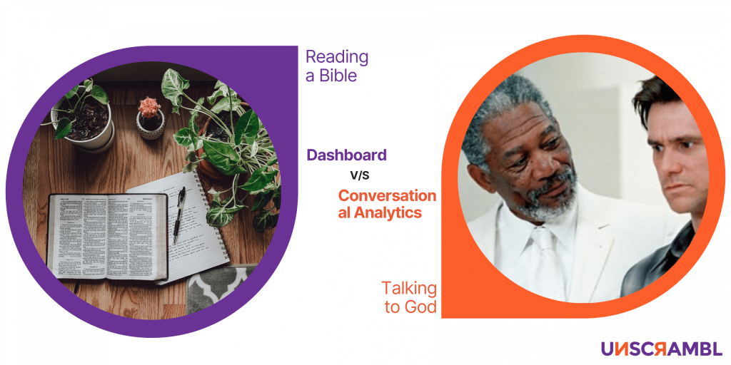 unscrambl   conversational Analytics is more useful than dashboard