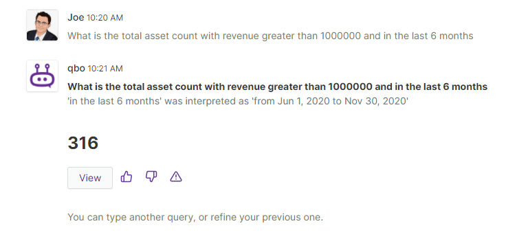 qbo insights answering total count