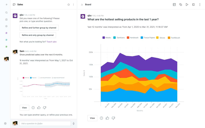 Data analysis with QBO